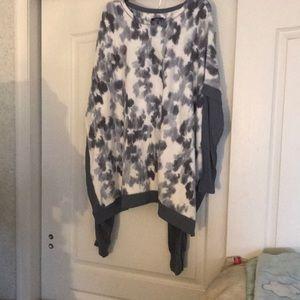 NWT sz xl gray fleece pajamas top/pants